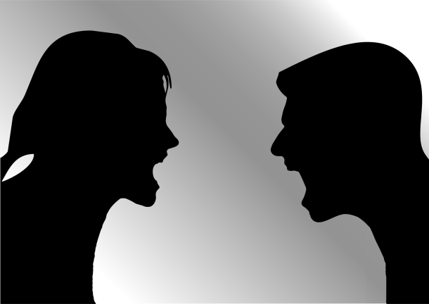 man-woman-arguing-silhouette